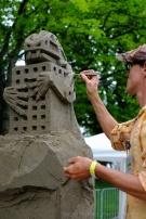 Delayne Corbett creates sculpture of river sand