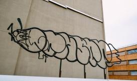 Iron Sculpture as Grafitti