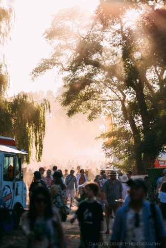 Vancouver Folk Music Festival - sunny days in the food vendors area.