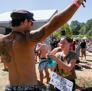 Vancouver Folk Music Festival - Getting Sprayed by Water