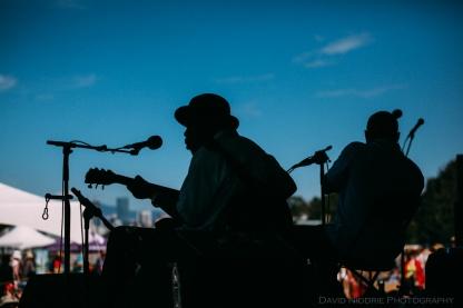 Vancouver Folk Music Festival - Blues in silhouette