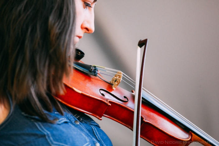 Vancouver Folk Music Festival - Violin player on stage
