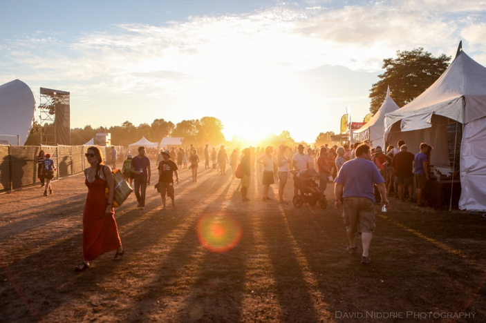 Vancouver Folk Music Festival - Sundown at Jericho Beach