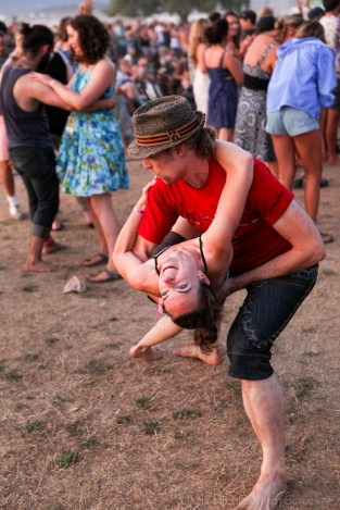 Vancouver Folk Music Festival - Main Stage dancing