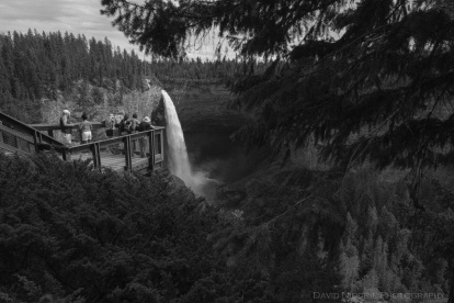 Tourists view Helmcken Falls in Wells Gray Park.