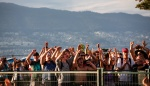 Happy crowd at Vancouver Folk Music Festival 2016