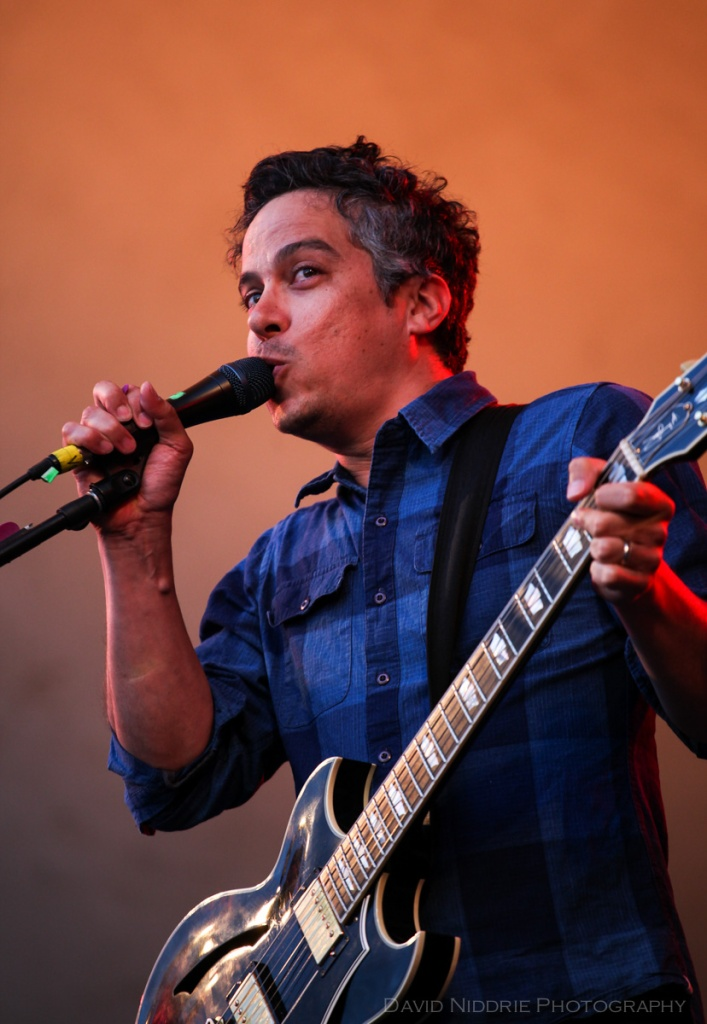 M . Ward performs on the main stage Golden Hour begins at Vancouver Folk Music Festival 2016