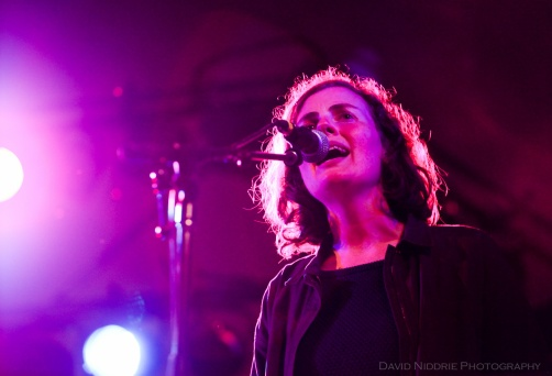 Kathryn Calder performs with New Pornographers Golden Hour begins at Vancouver Folk Music Festival 2016