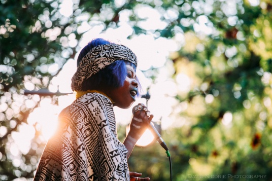 Ghana's Jojo Abot performs at the Vancouver Folk Music Fesival.