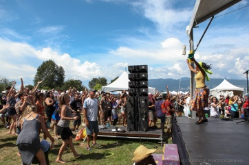Side stage at Vancouver Folk Music Festival.