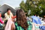 More bubbles at Vancouver Folk Music Festival.