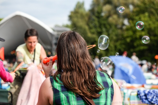 More bubbles at Vancouver Folk Music Festival.