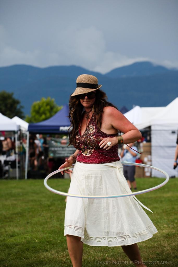 Hoop dreams at Vancouver Folk Music Festival.