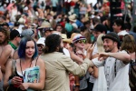 Crowd fun at Vancouver Folk Music Festival.