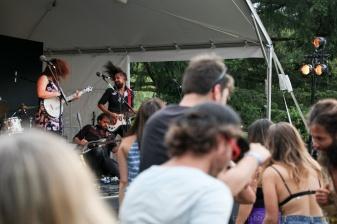 Lisa LeBlanc at Vancouver Folk Music Festival.