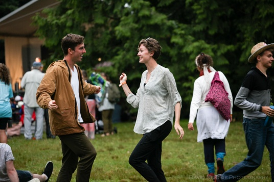 Dancing at Vancouver Folk Music Festival.