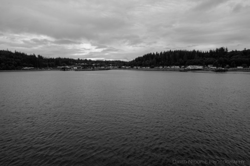 Alert Bay as seen from the ferry, originating in Port McNeill.