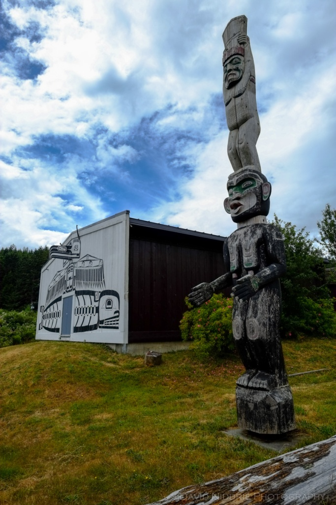 Exterior of the U'mista cultural centre in Alert Bay, BC.