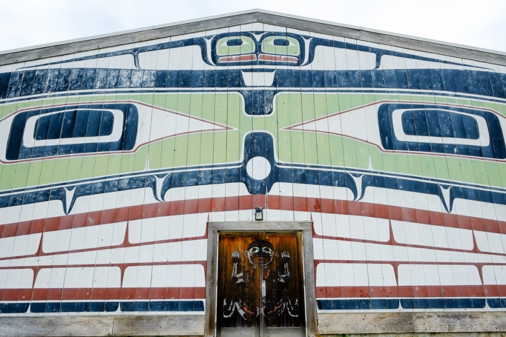 The ceremonial Big House in Alert Bay, BC