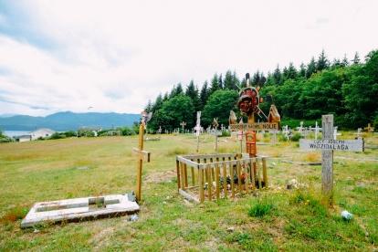 Graveyard in Alert Bay, BC.