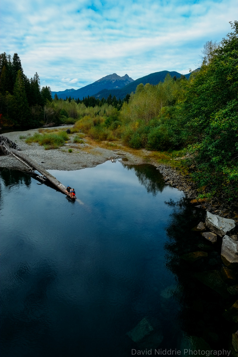 Visitors relax along the Skagit River in BC.